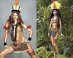 Inspirada na campanha que a top Giselle Bündchen fez em 2006 para um conhecida marca de sandálias: