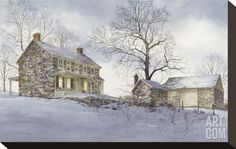 Evening Quiet Stretched Canvas Print by Ray Hendershot at Art.com