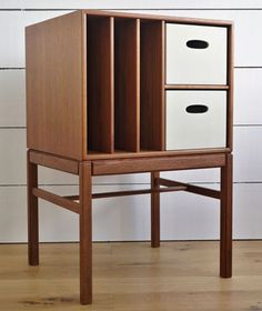 eBay watch: 1950s Scandinavian teak record storage unit