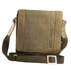 Handgearbeitete hochwertige, handschmeichelnde Marc Picard Leder Tasche Umhängetasche Schultertasche Messenger Bag 28x30x9 (Tobacco): Amazon.de: Koffer, Rucksäcke & Taschen
