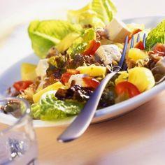 Tofus lencsesaláta Recept képpel - Mindmegette.hu - Receptek Summer Dishes, Tofu, Cobb Salad, Summer Entrees