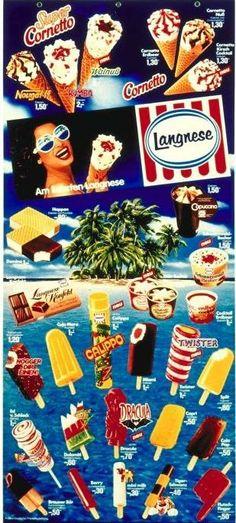 Langnese Ice Lollys Eiskarte 1984 Popsicle