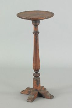 18th c. X base candle stand in old surface.  google.com