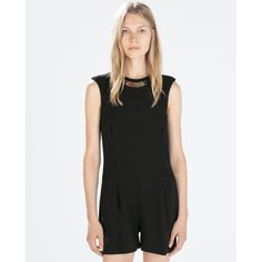Black Playsuit - The perfect alternative to the little black dress - finish off this black playsuit with ankles strap heels and a bold lip shade | #Fashion #Casual #Jumpsuits