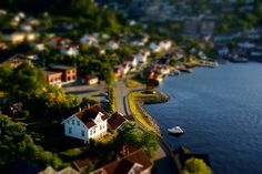 Miniature Stathelle from Above. tilt shift maker
