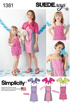 Simplicity Creative Group - Child's & Girls' Dress, Romper & Cardigan SUEDEsays