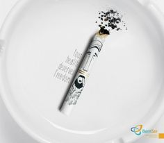 Print advertisement created by dim&canzian, Brazil for Bem Ser, within the category: Pharmaceutical. Reduce Weight, Ways To Lose Weight, Anti Smoking, Medical Design, Creative Advertising, Advertising Campaign, Print Ads, Health Care, Freedom