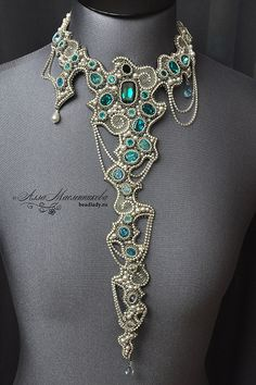 Waterfall necklace by Alla Maslennikova - http://www.beadlady.ru/eng/Jewellery/index.html