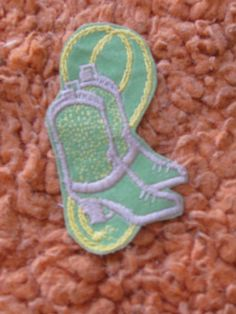 Cowboy boots with rope vintage patch  sewon and by crazicandi, $3.00