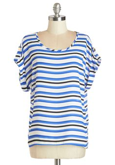 Breeze and Bevs Top in Blue & Black, #ModCloth