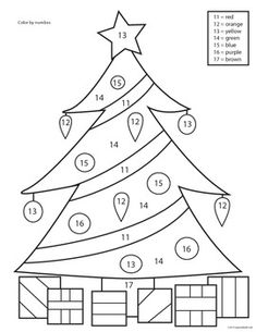 CHRISTMAS TREE COLOR BY NUMBER WORKSHEETS - PRE-K, K, 1ST, 2ND, 3RD GRADE - TeachersPayTeachers.com