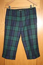 Junya Watanabe Comme des Garcons AD 2000 100% Wool Tartan Cropped Trousers Small