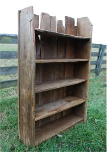barnwood bookcase .... love the old natural look!