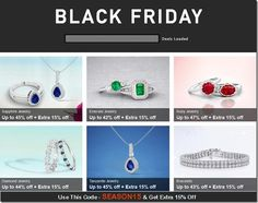 Black Friday Offers: Discount on all diamond and gemstone jewelry  at Angara.com