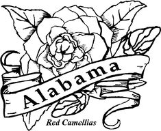 USA Printables Alabama State Stamp US States Coloring Pages
