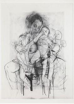 Jenny Saville Reproduction drawing I (after the Leonardo cartoon), 2009-2010
