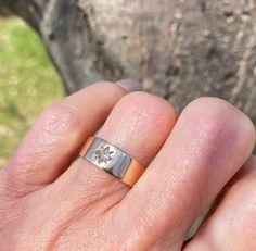 Antique Rose Gold Diamond Gypsy Band Ring - Boylerpf