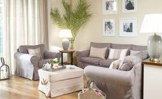 Obývačka v béžovej    #obyvacka#bezova#potahnasedacku#IKEA#taskananoviny#zavesy Ikea, Loft, Couch, Interior Design, Furniture, Trendy, Cardiff, Home Decor, Sewing