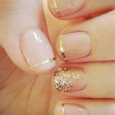 Nail Art gold glitter