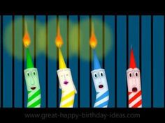 Happy B'day Singing Candles For You - YouTube