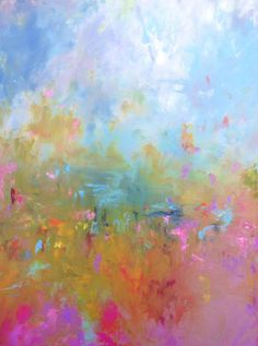 Abstract Landscape 'One for Me' acrylic by SallyKellyPaintings