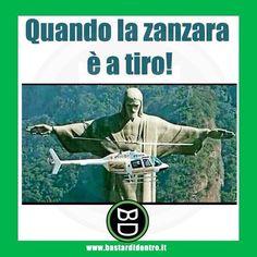 Quando la #zanzara è a tiro #bastardidentro #elicottero #ipnoticamentebastardidentro www.bastardidentro.it
