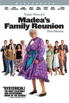 Lynn Whitfield, Lisa Arrindell, Tyler Perry, and Rochelle Aytes in Madea& Family Reunion Love Movie, Movie Tv, Movie List, Movies Showing, Movies And Tv Shows, Madea Movies, Funny Movies, Comedy Movies, 1990s Movies