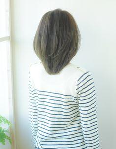 前髪長めひし形ミディアムヘア(YR-316) | ヘアカタログ・髪型・ヘアスタイル|AFLOAT(アフロート)表参道・銀座・名古屋の美容室・美容院