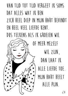 Persoonlijk gedicht met illustratie voor Kim Eland. Door Lot Bouwes