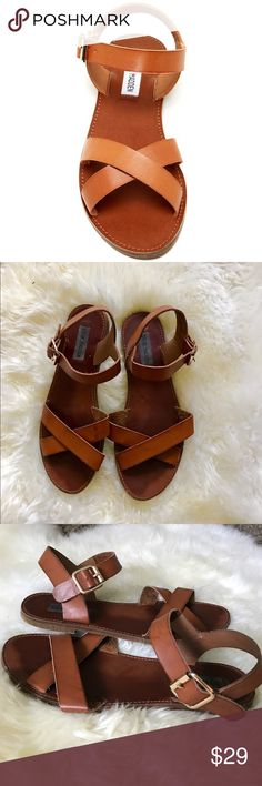 Steve Madden Bairn Sandal Steve Madden Bairn Sandal size 8 lightly worn. Bought them about a year ago and have only worn a handful of times. Trying to clear out my closet so I'm selling them. The first photo is a stock shot to show the wear on them. Selling for $29 OBO Steve Madden Shoes Sandals
