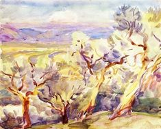 John Singer Sargent - Olive Trees 1909 - The Athenaeum