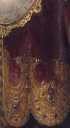 templeofapelles:  Rembrandt van Rijn, Bellona,1633, detail
