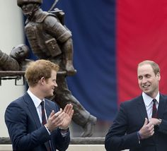 Princes Harry and William...Both brothers are themselves active members of the armed forces and are supporters of Help for Heroes charity