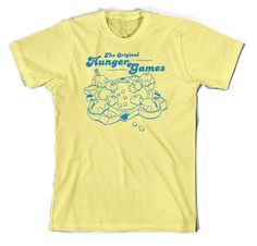 The Origninal Hunger Games Hungry Hippo Shirt - Yellow - Small - XX-Large. $14.99, via Etsy.