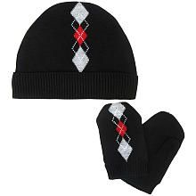 Babies R Us Boys' Hat and Mittens Set