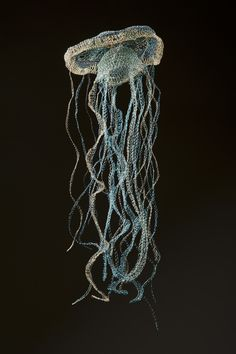 crocheted wire - nettle jellyfish