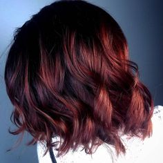 """61 Likes, 5 Comments - Splat Hair Design (@splathair) on Instagram: """"Fall is in full swing!! Love these fall hair colors!! Red/copper/violet deep warm tones for a…"""""""