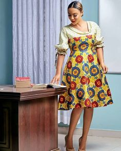 Adepa Dumas beautifully designed by 208716236 delivery arrangements if interested. Ankara Long Gown Styles, Short African Dresses, Short Gowns, African Print Dresses, Ankara Styles, African Prints, Ankara Designs, Ankara Gowns, African Lace