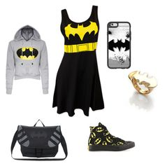 """""""Batman outfit"""" by michael24-i on Polyvore featuring Converse, Casetify and Noir"""
