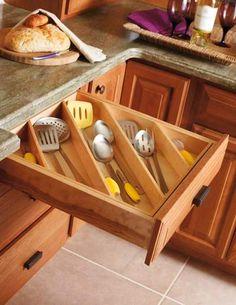 40 buenas ideas para organizar y ordenar la cocina.   Mil Ideas de Decoración