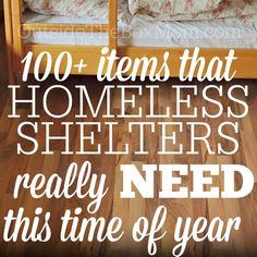Wondering what you can do during the holiday season to support your local homeless shelter? This post features a list of more than 100 items you can donate to make a real difference in someone's life. As we're all listening to Christmas music, reading Christmas stories, watching Christmas movies, and making holiday plans with our …