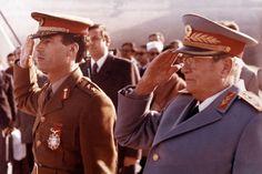 Gaddafi e Tito (década de 1970).