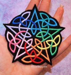 Rainbow pentagram patch