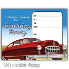 Classic Car theme birthday party