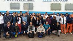 Equipo del Tren de la Inclusión Ramon Carrillo en Villa Gobernador Galvez, Santa Fe