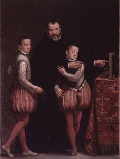1566-1567 Giovanni Antonio Fasolo - Portrait of Giuseppe Gualdo with his sons Paolo and Paolo Emilio