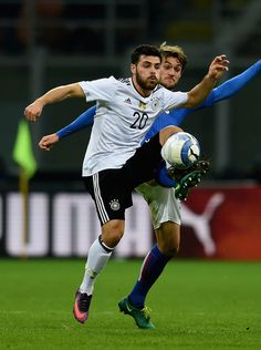 Kevin Volland of Germany in action during the International Friendly Match between Italy and Germany at Giuseppe Meazza Stadium on November 15, 2016 in Milan, Italy.