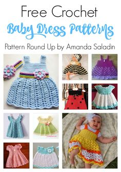 Check out these ten free crochet baby dress patterns. You are sure to find a pattern for a sweet baby dress in this round up. Check out these ten free crochet baby dress patterns. You are sure to find a pattern for a sweet baby dress in this round up. Toddler Dress Patterns, Crochet Baby Dress Pattern, Baby Girl Crochet, Crochet Baby Clothes, Cute Crochet, Baby Patterns, Skirt Patterns, Crochet Dresses, Crochet Summer