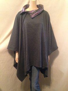 Lagenlook Poncho in wool