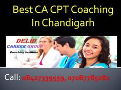 CA CPT Coaching Centre In Chandigarh